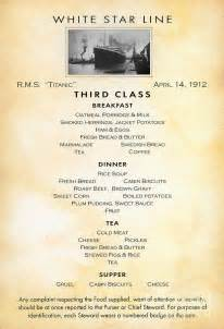 titanic breakfast menu jack and rose would have eaten very different things on