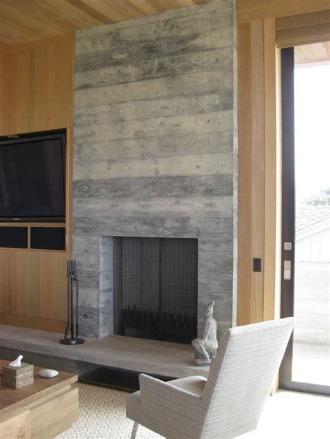 Concrete Fireplace by Concrete Fireplace