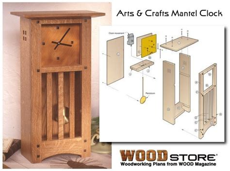 woodworking arts and crafts clock plans diy build your own clock