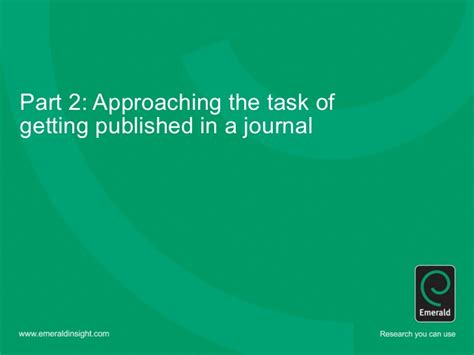 emerald research papers writing for emerald journals