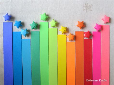 How To Make Lucky Paper Strips - sale origami paper strips 200 count rainbow