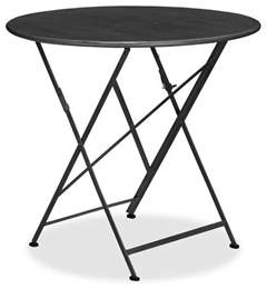 tavern folding bistro table black traditional