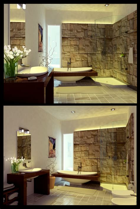 unique and exotic stone wall bathroom by arkiden124 stone bathroom 1 by arkiden124 łuczak blog