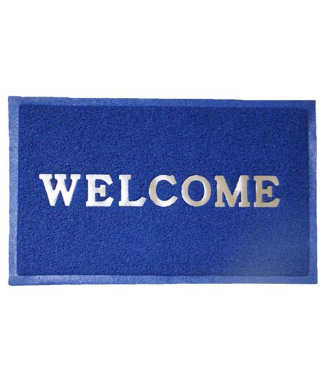 Where To Buy A Doormat Lalchand Sons Blue Welcome Doormat Buy Lalchand Sons