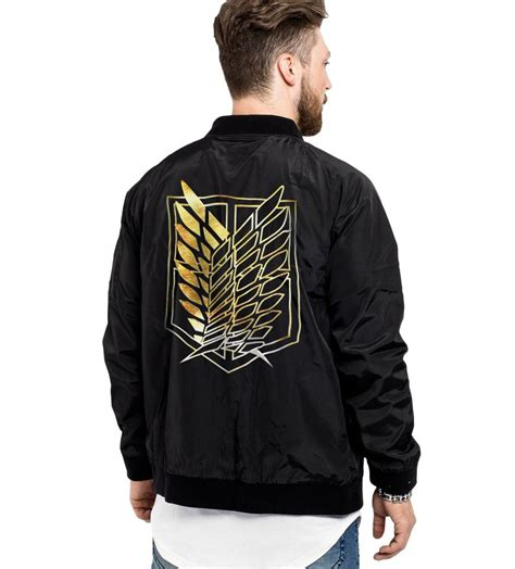 Sweater Jaket Attack On Titan Snk Sporty All Edition attack on titan golden corps bomber jacket otakupicks