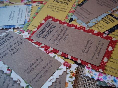 Handmade Business Card - handmade business cards chrissie freeth tapestry weaver