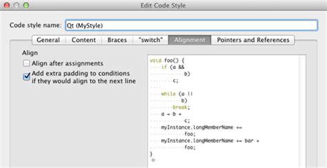 qt designer layout alignment indenting text or code qt creator manual