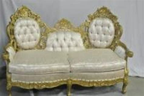 settees for sale on ebay louis xv french rococo carved gold white pink brocade