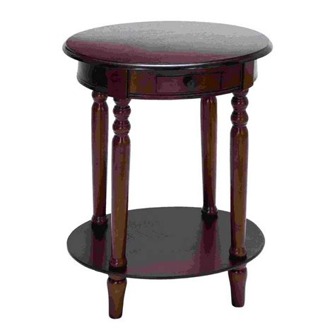 oval accent tables shop woodland imports plum purple oval end table at lowes com