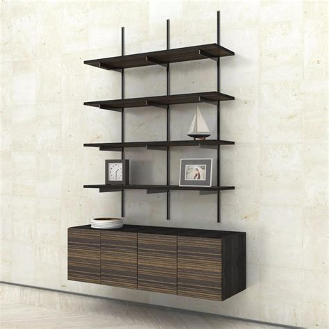 Wall Hung Shelves Wall Mounted Shelves With 2 Door Cabinets Modern Shelving