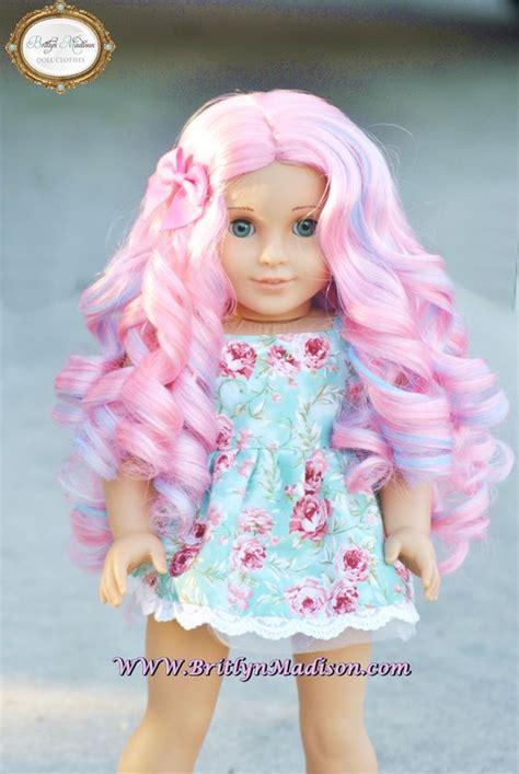 Doll Premium quot cotton curls quot premium doll wig for 18 inch dolls like american amerivan