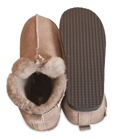 slipper boots with sole shepherd genuine sheepskin slippers boots sole
