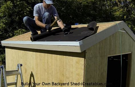 Putting A Roof On A Shed by How To Roof A Shed Roofing A Shed Icreatables