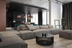 sofa ev wohnzimmer in grau mit eckcouch im mittelpunkt 55 ideen