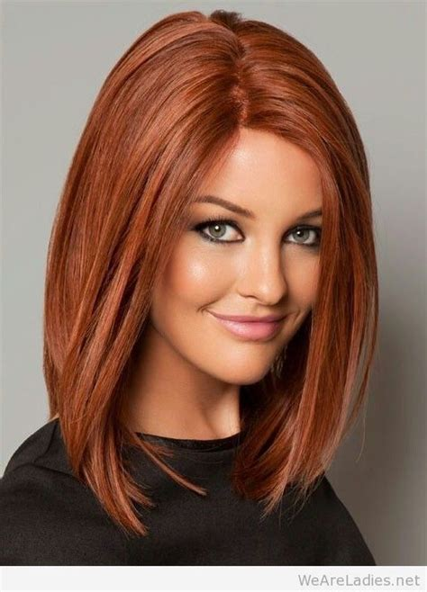 red hair on round face long bob hairstyle red google search hair styles