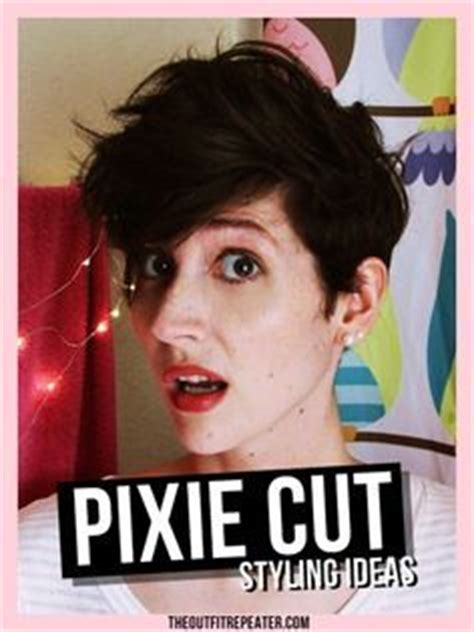 tutorial to cut asymetric pixie style ideas for styling a pixie cut the outfit videos and outfit