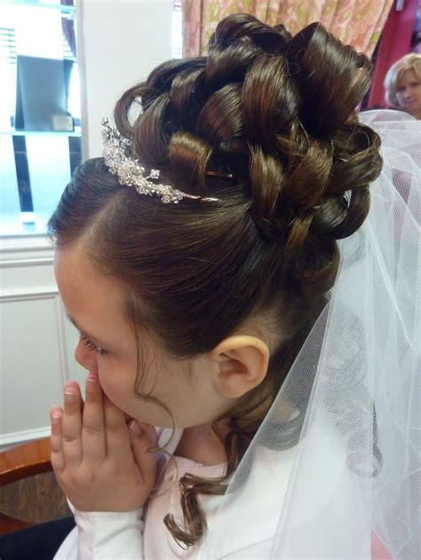 first communion hair dos communion hair updo kidshairstyling hair styling