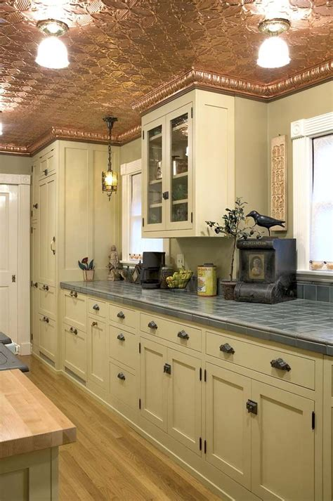 Copper Pressed Tin Ceiling Kitchenspirations Pinterest Tin Ceilings In Kitchens