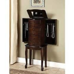 Stand Up Jewelry Armoire Mirrored Jewelry Armoire Box Organizer Stand Up