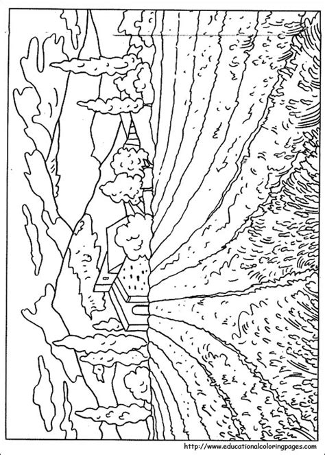 easy nature coloring page coloring pages of nature for adults www pixshark com