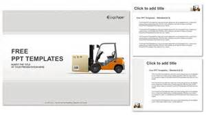 Warehouse Layout Template by Forklift In A Warehouse Powerpoint Templates
