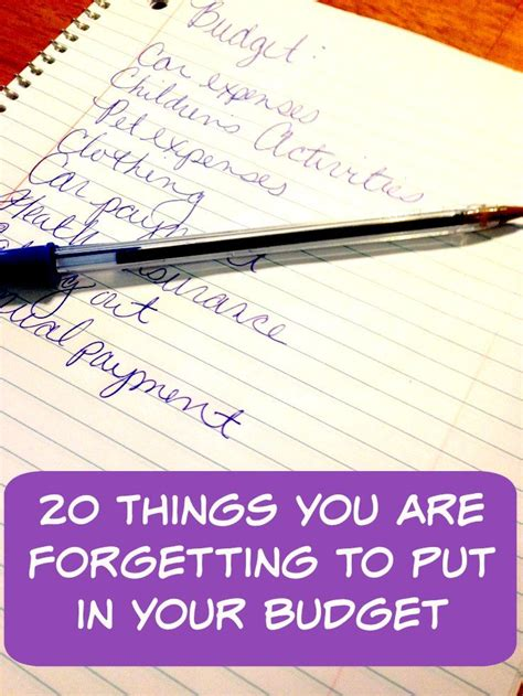 How To Put More Money On A Visa Gift Card - 20 things you are forgetting to put in your budget