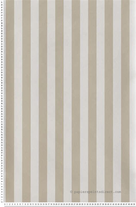 Tapisserie Rayures by Rayures Bicolores Beige Et Blanc Papier Peint Lut 232 Ce