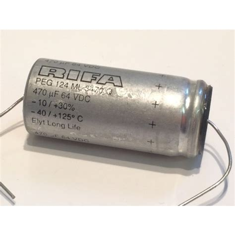 rifa electrolytic capacitor 470uf 64vdc rifa peg124 axial electrolytic peg124ml3470q fd6f19