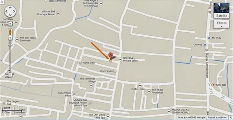 detail el parque playground seminyak bali location map