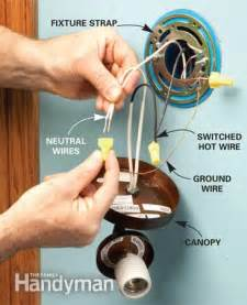how to install light fixture wiring how to add a light the family handyman