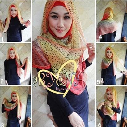 tutorial berhijab pasmina sifon kreasi jilbab segi empat simple dan menarik