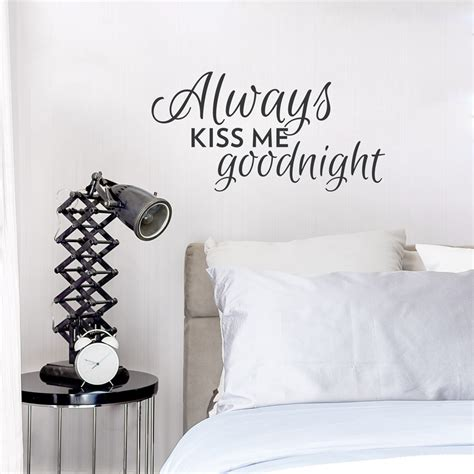me goodnight wall quote decal