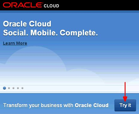 tutorial oracle cloud signing up for a java cloud service
