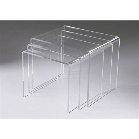 tables basses transparentes gigognes triade