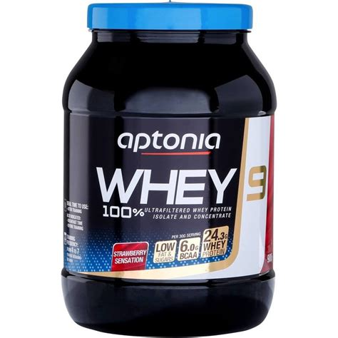 Whey Fitnes whey 9 protein 900g strawberry decathlon