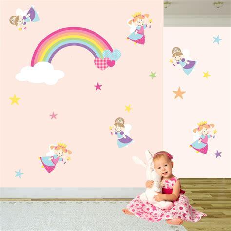 wall stickers princess princess rainbow nursery wall stickers
