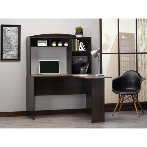 espresso computer desk with hutch espresso computer desk with hutch computer desk with
