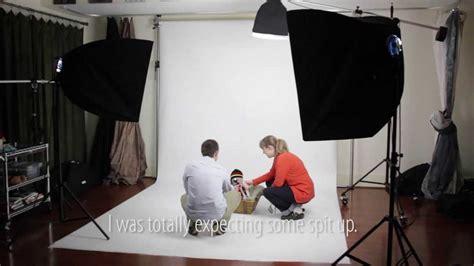 newborn photography lighting setup baby portraits in studio constant lights on white
