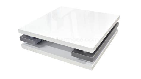 Table Basse Carrée Blanche 138 by Carre Blanc Definition White Gold