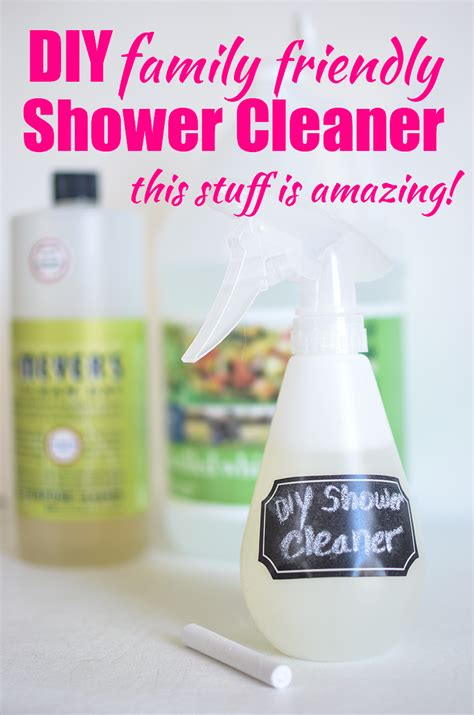 Shower Cleaner Diy by Diy Shower Cleaner Family Friendly