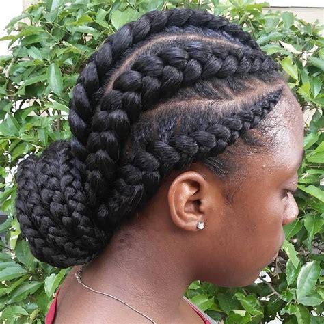 stylish cornrows braids in a bun 31 ghana braids styles peinado de trenza
