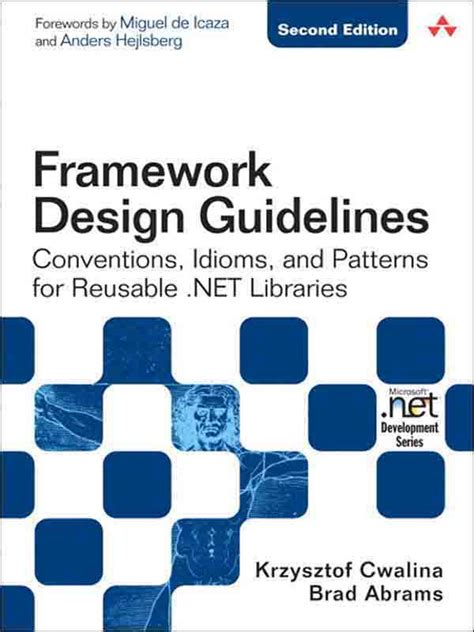 design pattern guidelines cover page framework design guidelines conventions