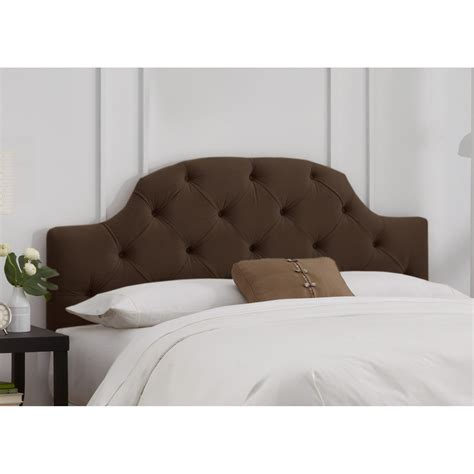 Curved Headboard by Curved Tufted Velvet Upholstered Headboard Headboards At
