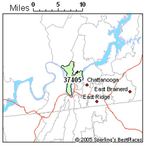 zip code map chattanooga tn best place to live in chattanooga zip 37405 tennessee