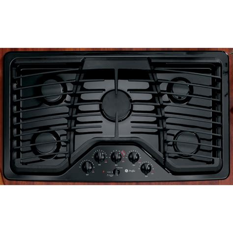 ge profile gas cooktop ge profile series pgp976detbb 36 quot gas cooktop black