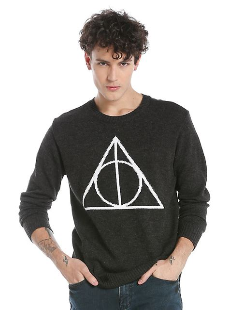 Harry Potter Sweater Black harry potter deathly hallows sweater topic