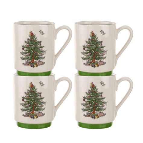 spode christmas tree stacking mugs set of 4 39 99 you