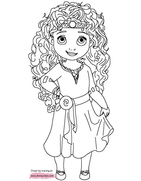 princess merida coloring page little princesses printable coloring pages disney