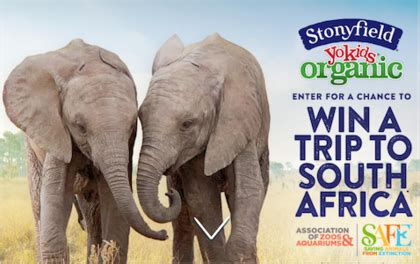 Sweepstakes South Africa - stonyfield farm trip to south africa sweepstakes sun sweeps