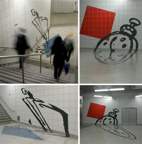 Perspecitve In A Tornoto Subway Station by Perspective Puzzle Anamorphic In The Toronto Subway